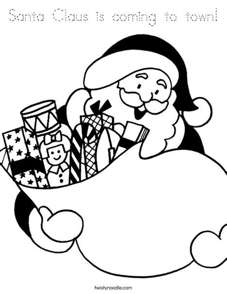 mrs claus coloring page twisty noodle santa claus is coming to town coloring page tracing