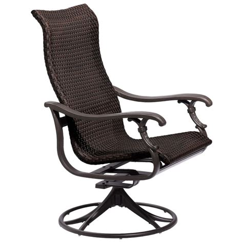 swivel rocker outdoor chairs ravello woven swivel rocker tropitone