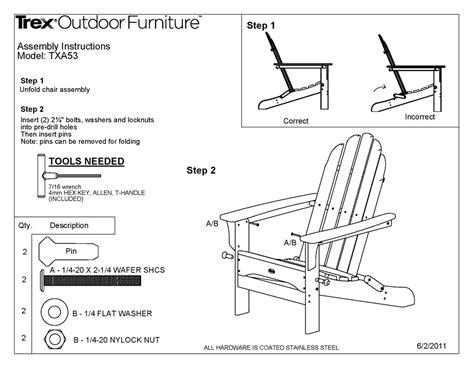 Trex 174 txa53 cape cod folding adirondack chair polywood furniture