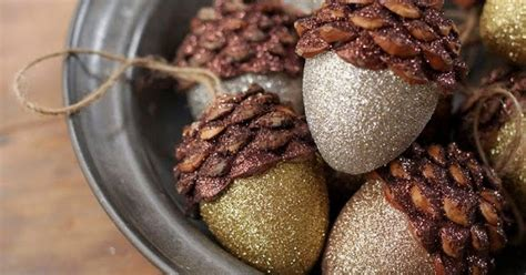 Help Me Find Bglam by The Daily Find Rustic Glam Shimmering Acorn Ornaments