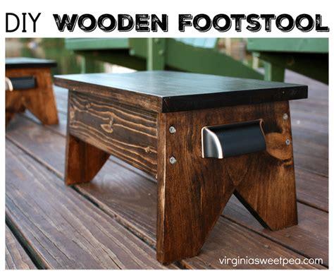 diy footstool sweet pea