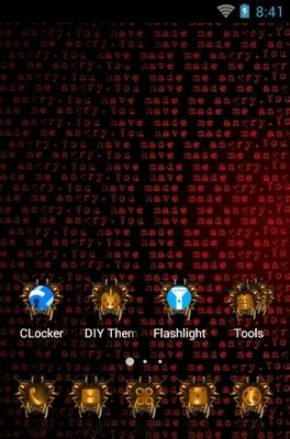 themes for android red red android theme for clauncher androidlooks com