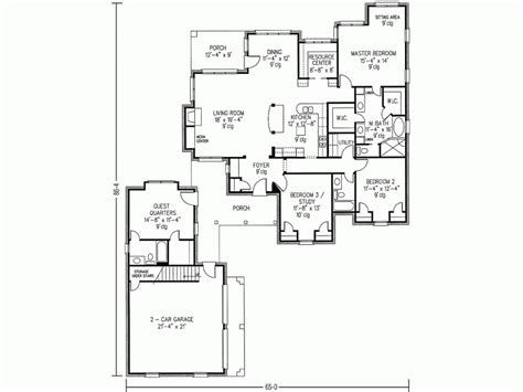 house plans with detached guest house floor plans