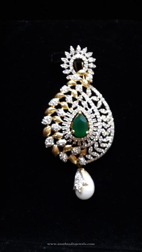 design diamond designer gold diamond pendant south india jewels