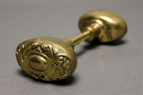 Style Door Knobs by Style Oval Door Knob In Brass Door Knobs
