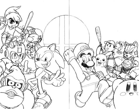 super smash brothers coloring pages free printable