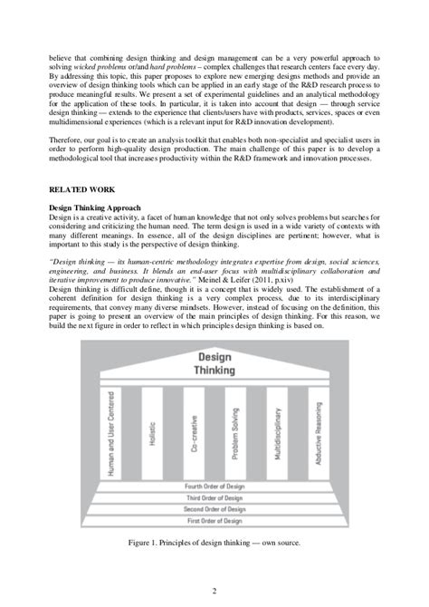 design thinking application the application of design thinking methodology on research