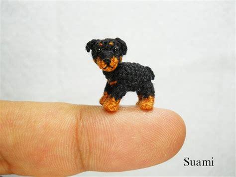 mini rottweiler puppies miniature rottweiler puppy tiny crochet mini amigurumi stuff animal not