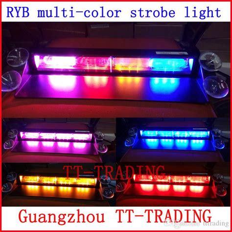 emergency vehicle light colors ryb 12 led police strobe lights vehicle strobe light car
