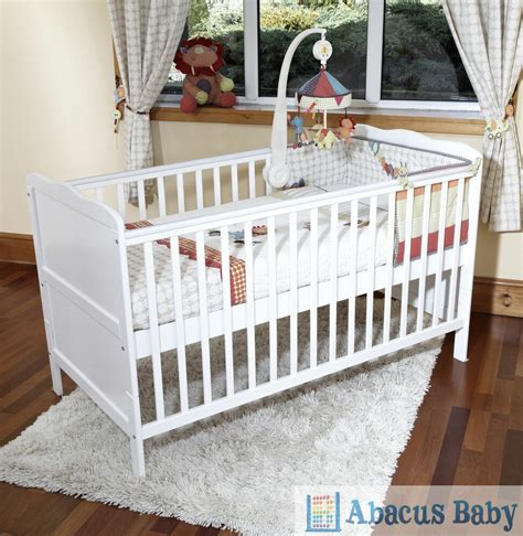 cot bed nursery furniture sets new baby white cot bed foam mattress cotbed nursery furniture junior bed ebay