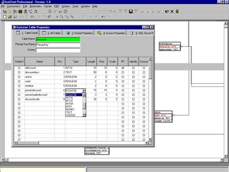 kickstart template visio erd diagram template