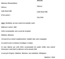 Resiliation Lettre Loi Chatel Modele Lettre Resiliation Loi Chatel Mutuelle