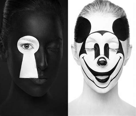 imagenes blanco y negro serie mujeres con maquillaje art 237 stico en 2 dimensiones