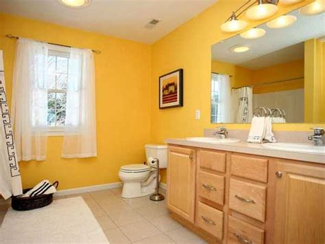 wall paint ideas for bathroom 25 modern bathroom ideas adding sunny yellow accents to bathroom design
