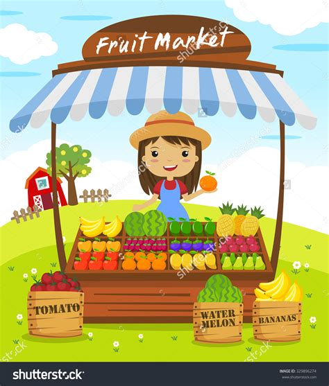 q store fruit shop fruit market stall clipart 66