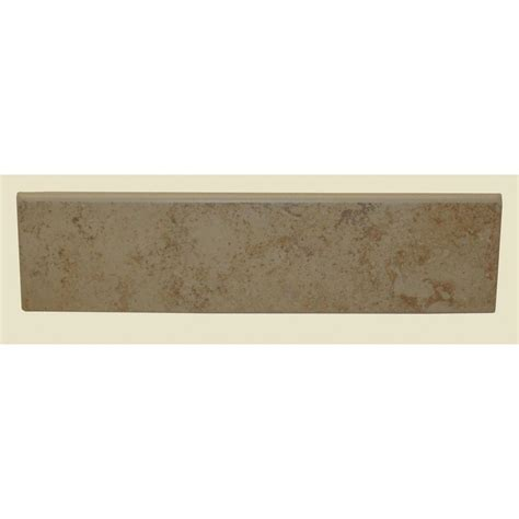 daltile brixton sand 3 in x 12 in glazed ceramic surface bullnose wall tile bx02s43c91p1 the
