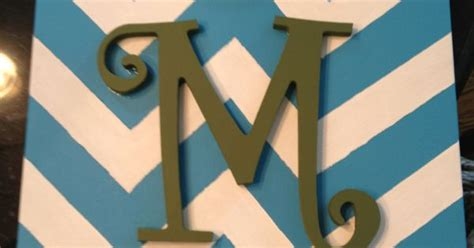 pattern paint roller hobby lobby chevron pattern painted on canvas with wooden letter from
