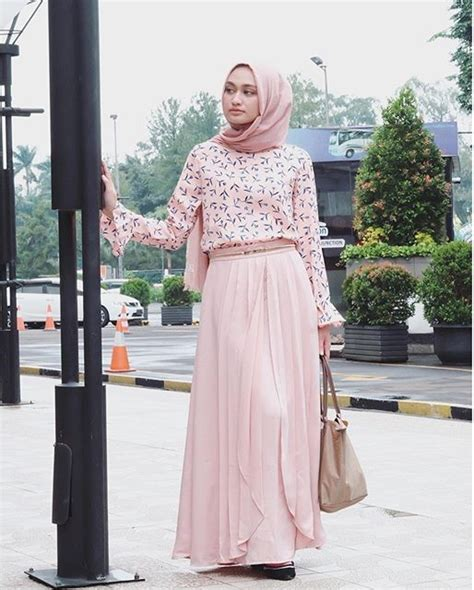 Gamis Remaja Jaman Now 18 model baju masa kini untuk wanita fashionable trendy