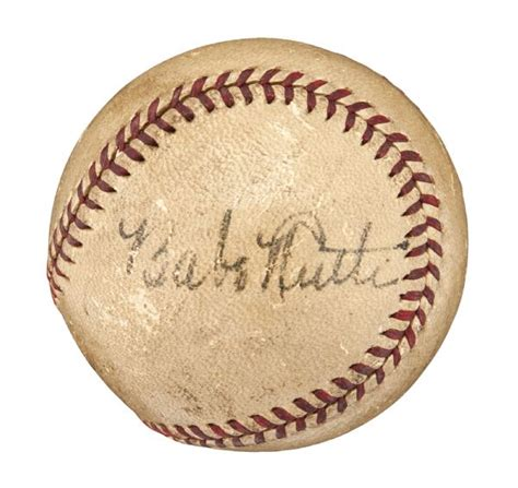 Lot Detail Circa 1940s Babe Ruth Single Signed National
