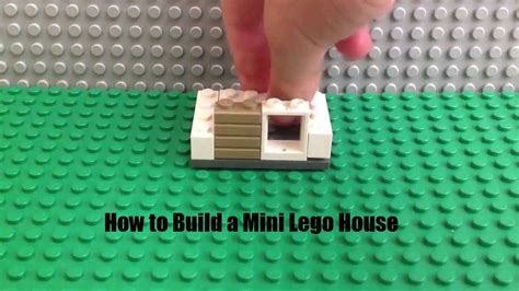 how to make a lego house how to build a mini lego house youtube