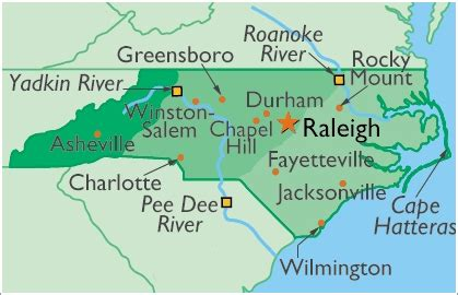 map of nc and surrounding area carolina senior care council members specialized