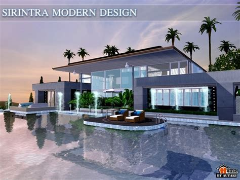 home design no download the sims resource tsr sirintra modern design house by