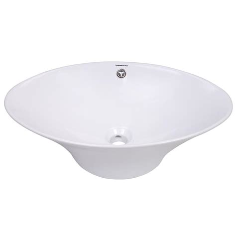 vessel sink drain with overflow aquaterior porcelain ceramic bathroom vessel sink basin w