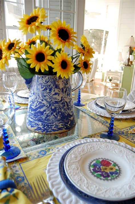 sunflower table settings table setting with sunflower centerpiece and