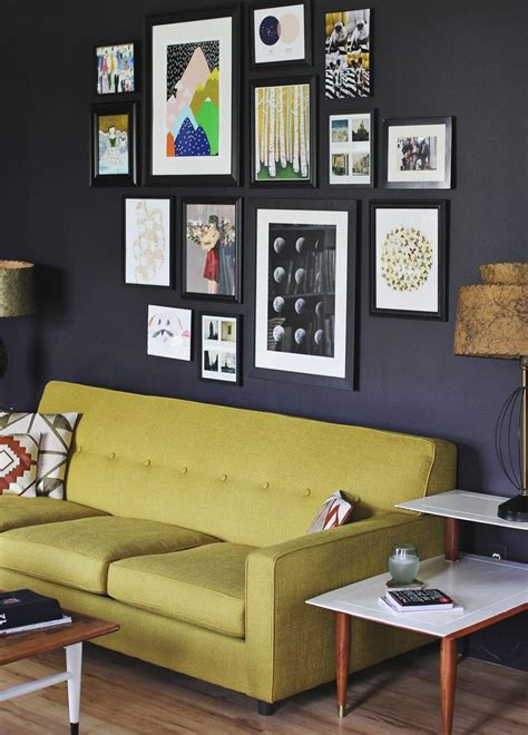 art above sofa create an eye catching gallery wall