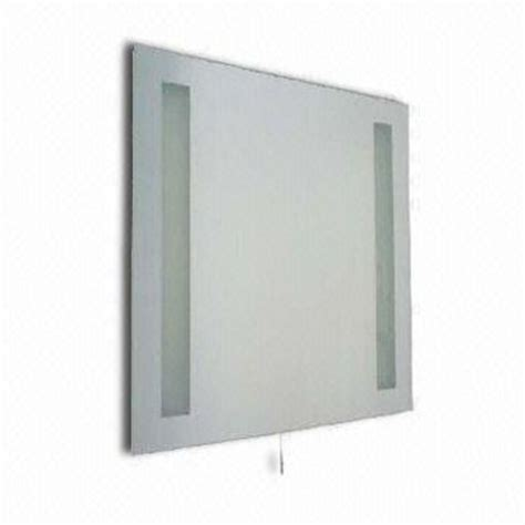 bathroom mirrors with built in lights 230v pull cord bathroom mirror light with built in