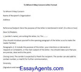 Experience Letter To Whom It May Concern How To Write To Whom It May Concern Letter Format Essayagents Homework Help