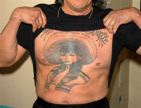 danny trejo chest tattoo meanings of all danny trejo s tattoos and his