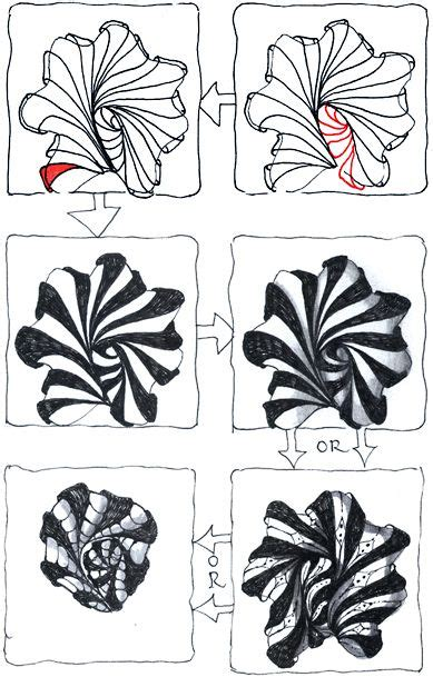 zentangle pattern step outs aquafleur tangle step outs part 2 motifs et formes