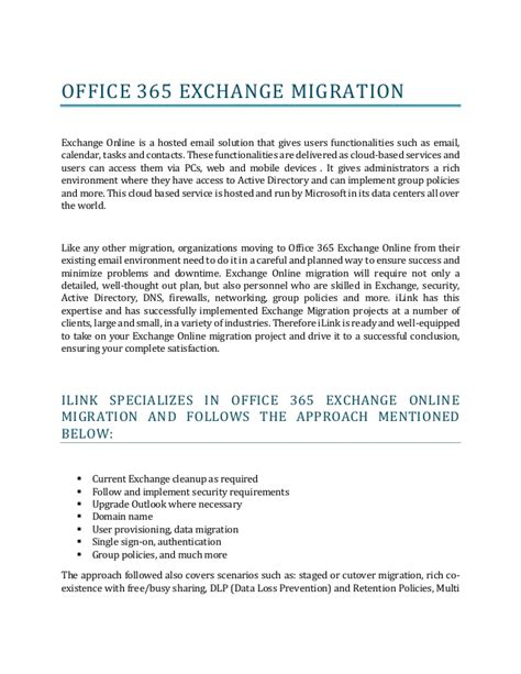 Office 365 Exchange by Office 365 Exchange Migration
