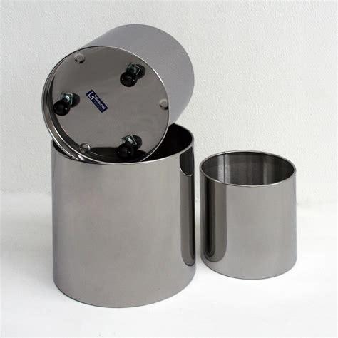 vasi in acciaio inox fioriera con ruote naxos diametro 60 5xh52 cm l