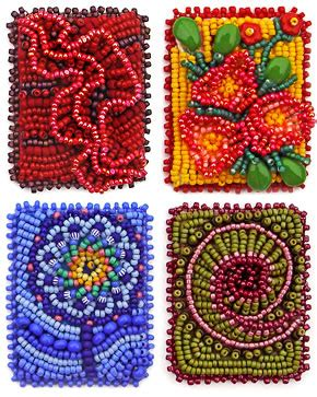bead embroidered flower patterns free patterns