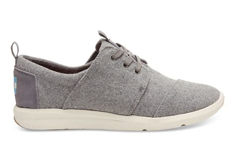 Grey Sneakers toms grey felt suede s sneakers in gray lyst