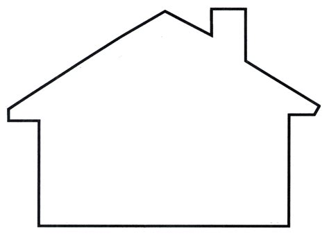 house outline house template clipart best