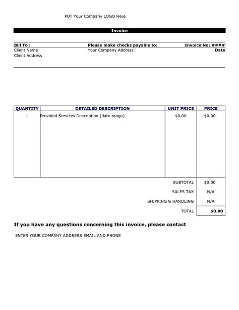 excel invoice template free basic invoice template uk free to do list