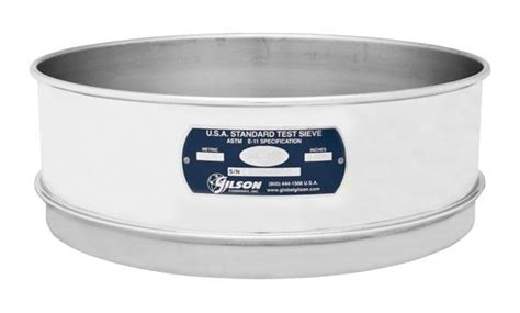 10 stainless steel sieve 10 quot sieve all stainless height no 10 gilson co