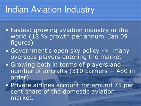 Mba In Aviation Management Abroad by Pvt Partnership In Atf Indian Scenario