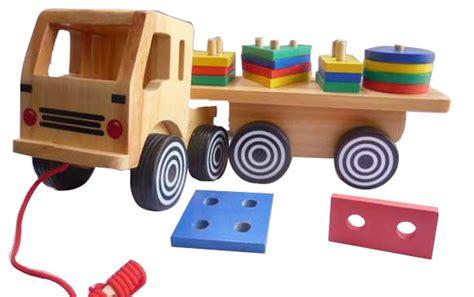 Ronche Geo 20 Pcs geo truck besar mainan kayu