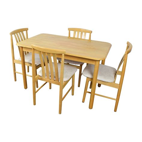 light wood table with chairs shop craps coffee table