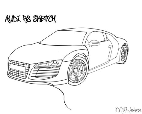 how to draw an audi r8 drawingforall net audi r8 drawing by tecartist on deviantart