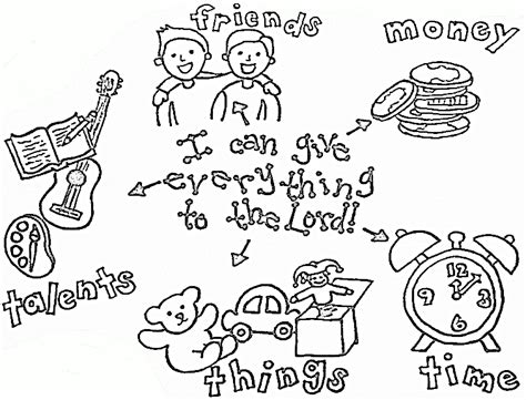 free coloring pages of tithing sheets