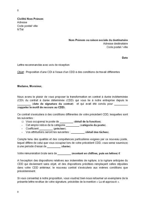 lettre de proposition d un projet lettre de motivation cdi apr 232 s cdd lettre de motivation 2018