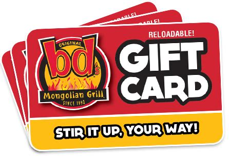 Gifts For Everyone Gift Cards For All Tastes by Bd S Mongolian Grill 187 Gift Cards