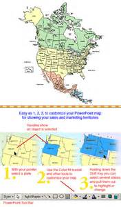 america canada usa and mexico powerpoint map