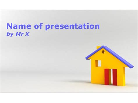 house powerpoint template home plan of architect powerpoint template