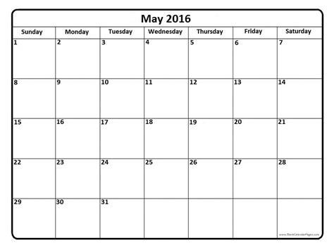 May Calendar Template may 2016 calendar may 2016 calendar printable